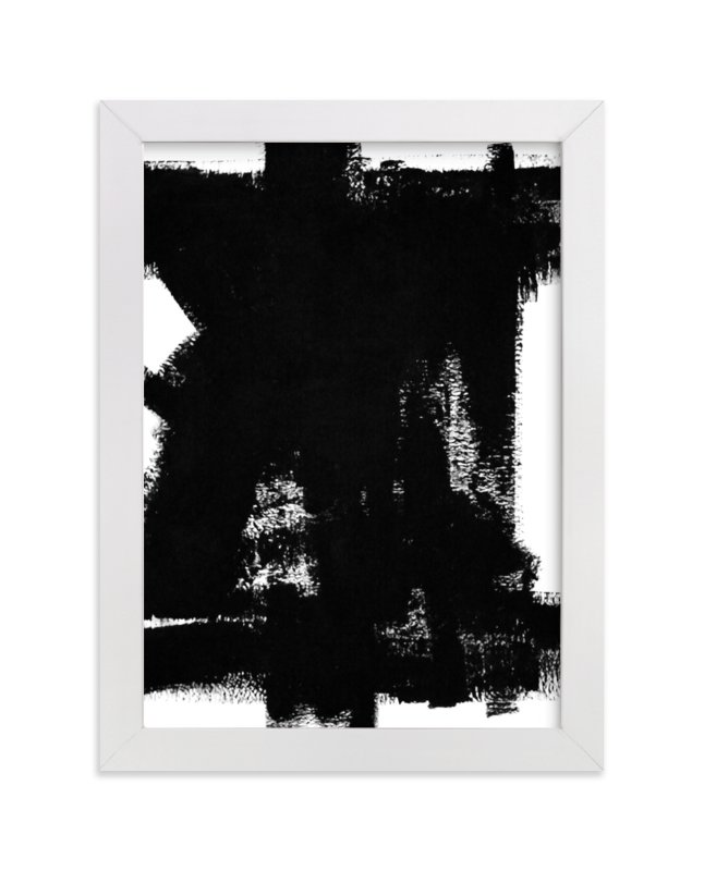"""Back in Black"" - Art Print by Ilana Greenberg in beautiful frame options and a variety of sizes."