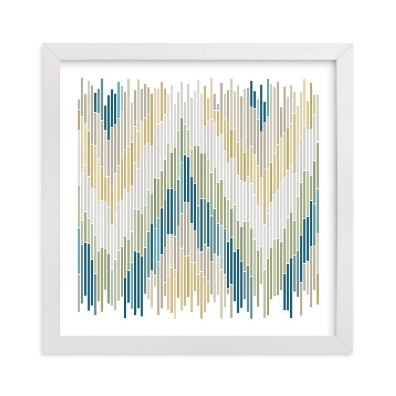 """""""Mosaic Chevron"""" - Art Print by Erin Deegan in beautiful frame options and a variety of sizes."""