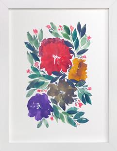 hand painted flowers_5d  Art Print
