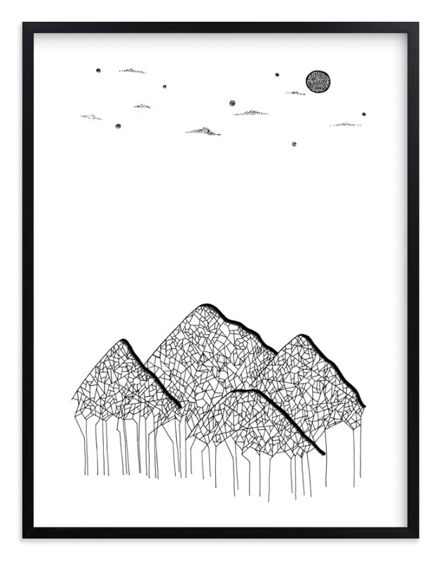 """""""Lone Wolf"""" - Art Print by blackwhite press in beautiful frame options and a variety of sizes."""