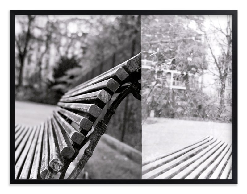 """The Bench"" - Art Print by Jill Fisher in beautiful frame options and a variety of sizes."