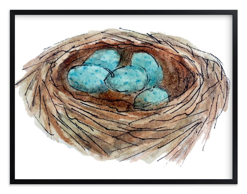 """Bird's Nest"" - Art Print by Haley Moore in beautiful frame options and a variety of sizes."
