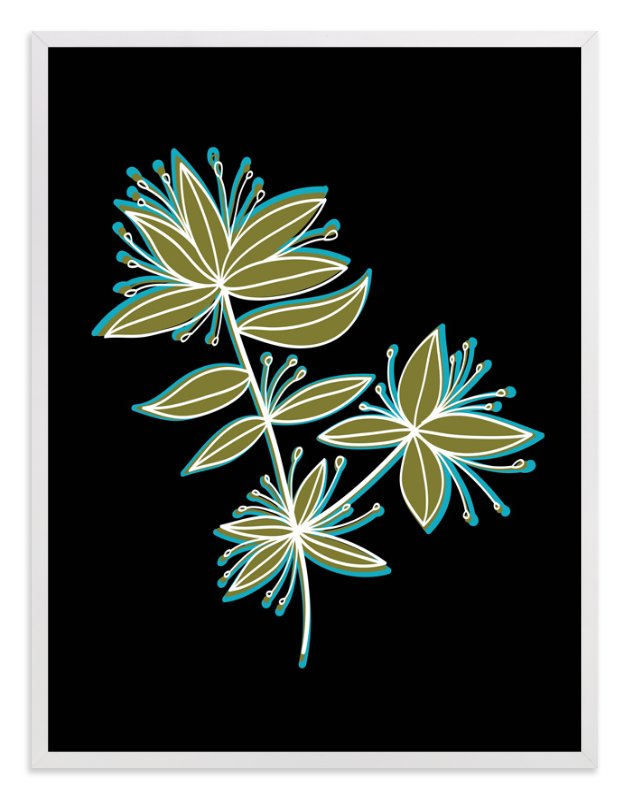 """botanical leaves"" - Art Print by aticnomar in beautiful frame options and a variety of sizes."