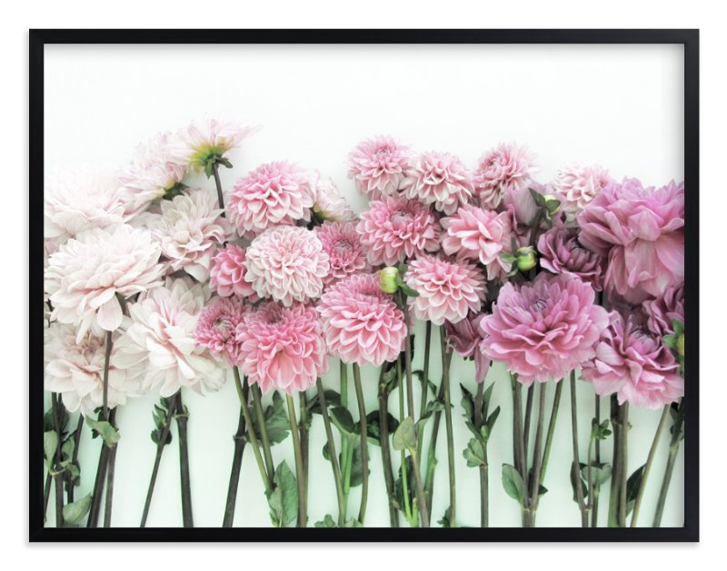 """Ombre Blooms"" - Art Print by Kate Wong in beautiful frame options and a variety of sizes."