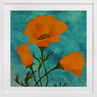 Bud & Bloom Poppies  Art Print