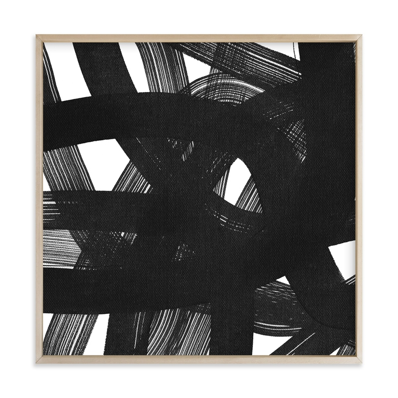 """""""Charcoal Ribbons"""" - Art Print by Kim Johnson in beautiful frame options and a variety of sizes."""