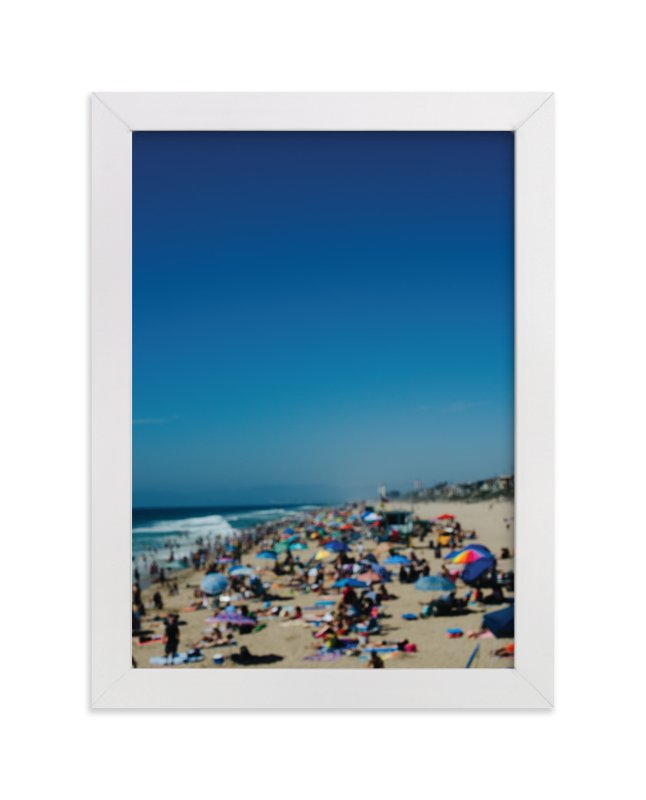 """Beach I"" - Art Print by Jennifer Little in beautiful frame options and a variety of sizes."