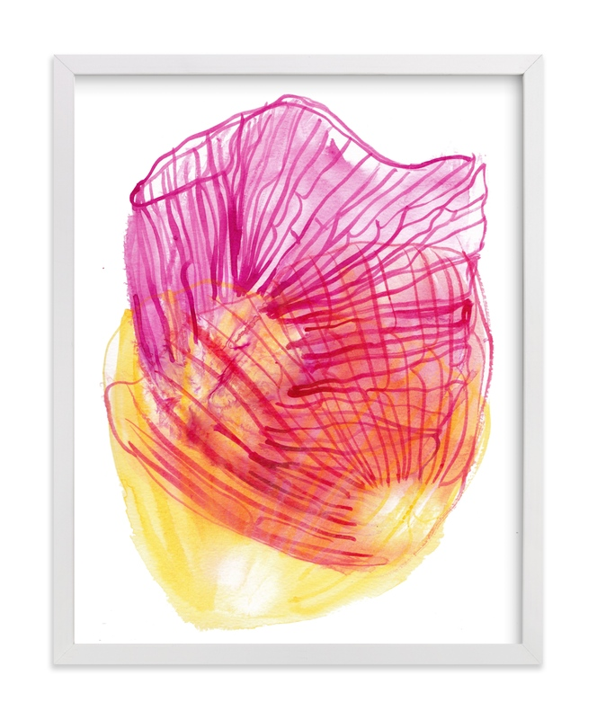 """""""Skeleton Petals"""" - Art Print by Maggie Burns in beautiful frame options and a variety of sizes."""