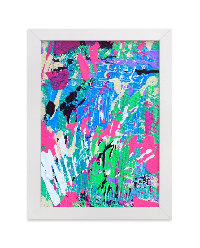 """""""Color Burst III"""" - Art Print by Pooja Pittie in beautiful frame options and a variety of sizes."""