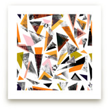 Textured Triangles by Oana Prints