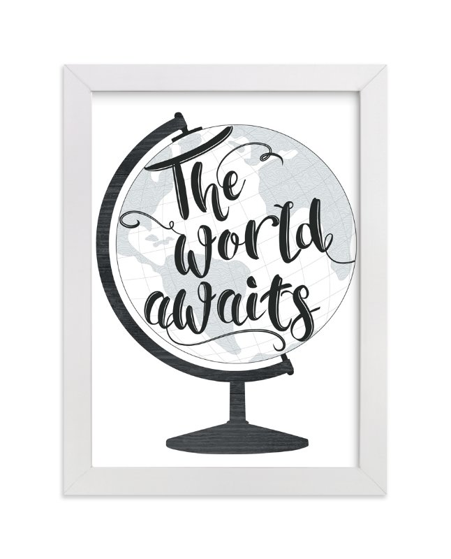 """World Awaits II"" - Art Print by LemonBirch Design in beautiful frame options and a variety of sizes."