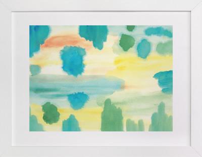 watercolor painting blues  Art Print