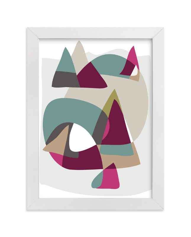 """""""From the Mountains to the Sea"""" - Art Print by Christina Flowers in beautiful frame options and a variety of sizes."""