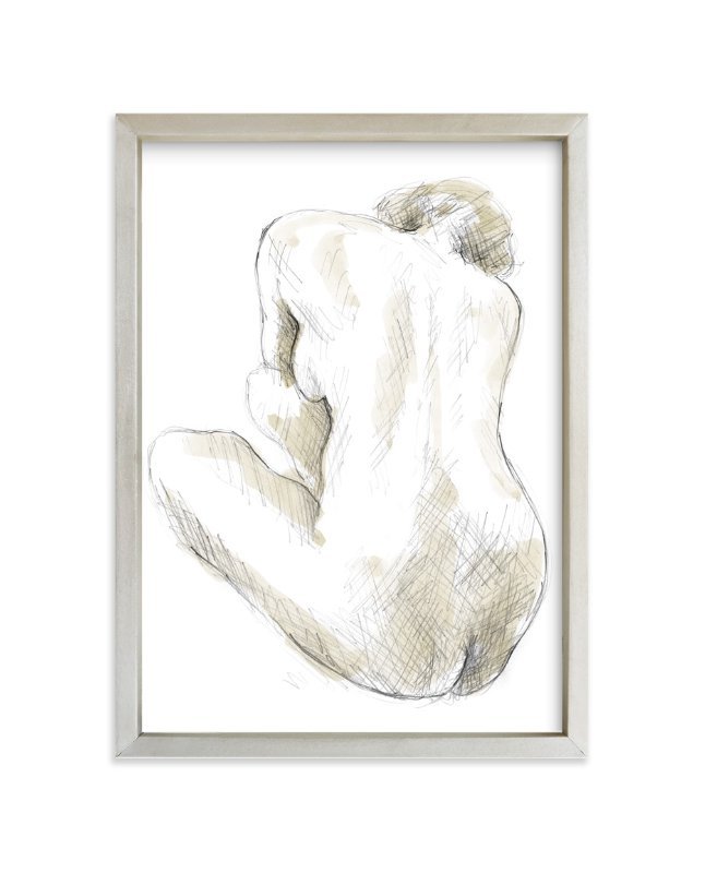 """""""Quiet Woman"""" - Art Print by Susanne Kasielke in beautiful frame options and a variety of sizes."""
