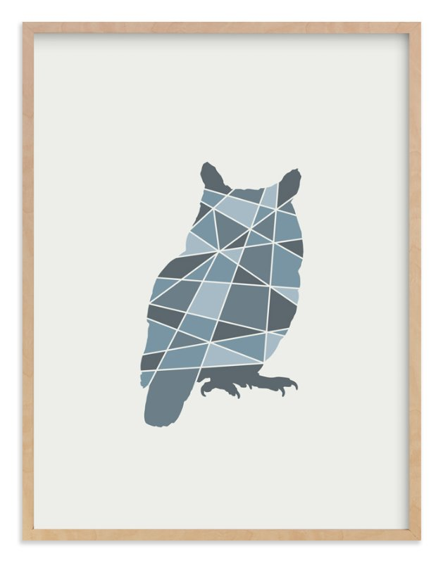 """""""Owl Geometry"""" - Art Print by Jennifer Morehead in beautiful frame options and a variety of sizes."""