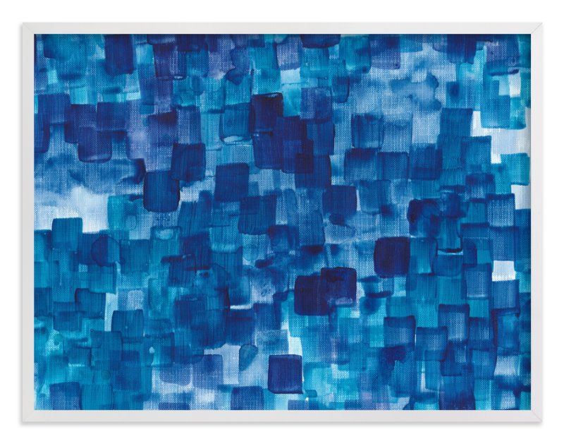 """""""Blue One Watercolor Abstract"""" - Art Print by Jenny Batt in beautiful frame options and a variety of sizes."""