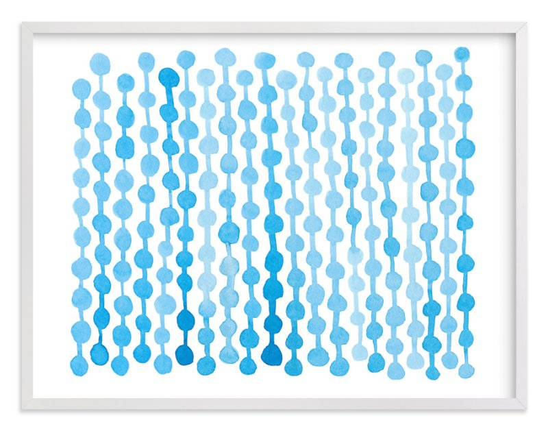 """""""Modern Blues"""" - Art Print by Kim Johnson in beautiful frame options and a variety of sizes."""