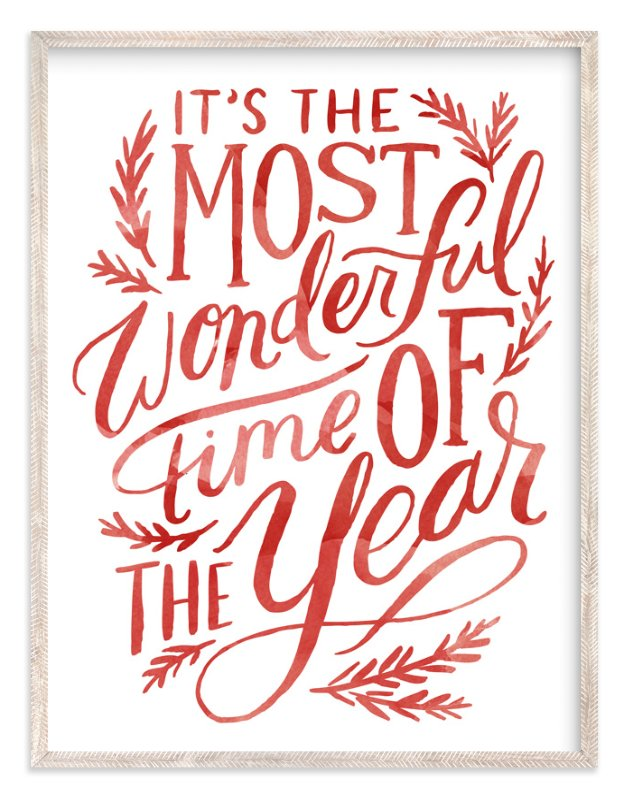 The Most Wonderful Time Painted Art Print