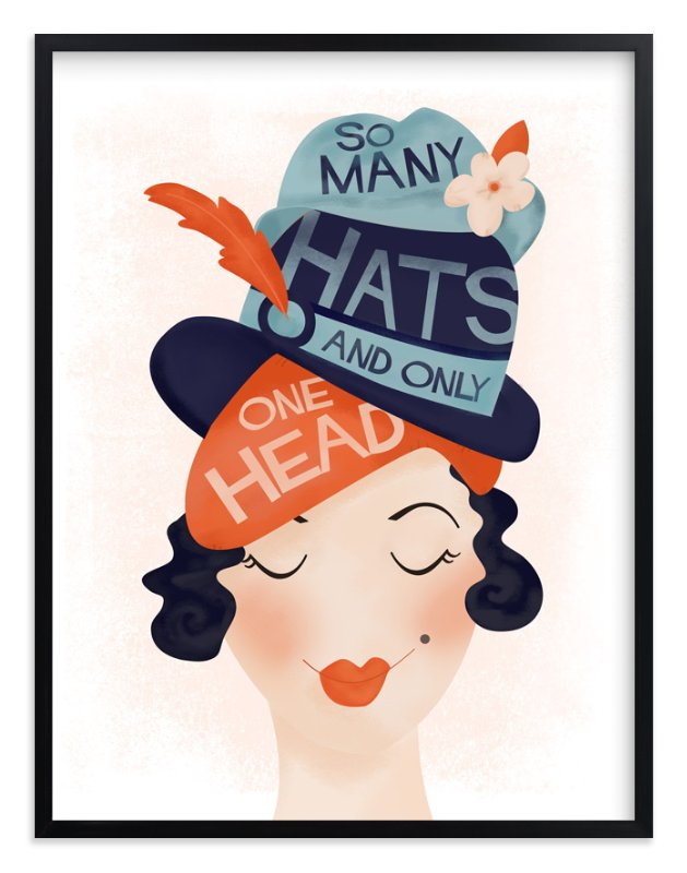 """Chapeau"" - Art Print by Melissa Egan of Pistols in beautiful frame options and a variety of sizes."