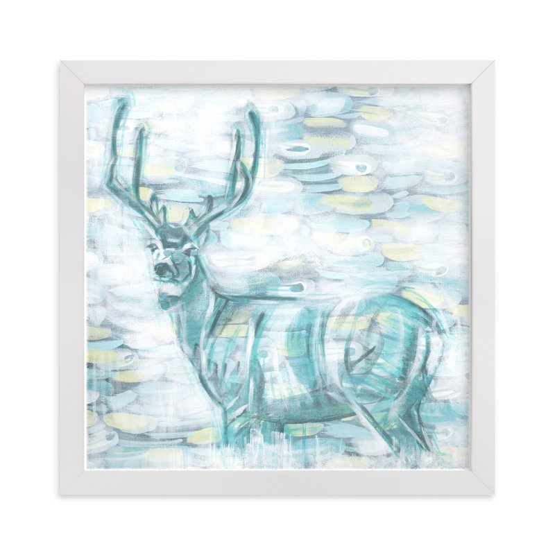 """""""Abstract Buck"""" - Art Print by Heather M. Roberts in beautiful frame options and a variety of sizes."""