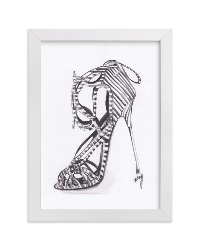 """""""Striped Stiletto"""" - Art Print by Zhay Smith in beautiful frame options and a variety of sizes."""