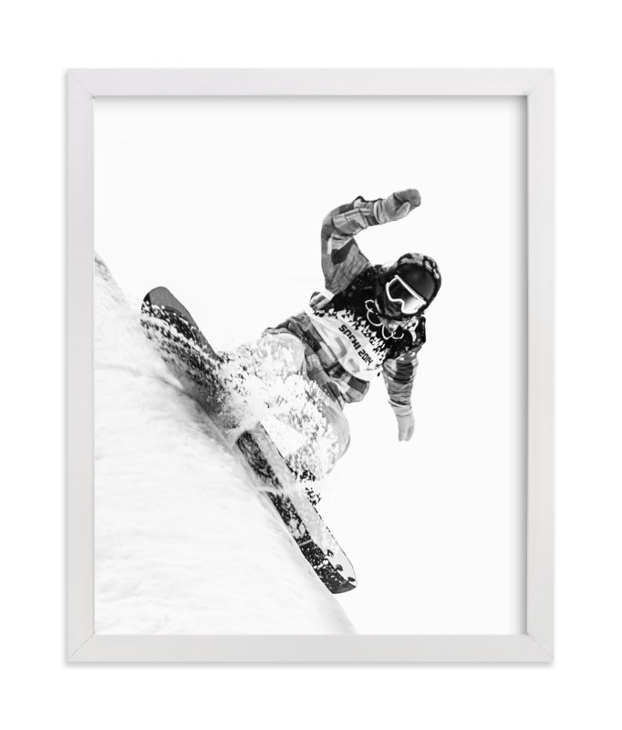 """Sochi Shreddin'"" - Art Print by Mark Kirby in beautiful frame options and a variety of sizes."
