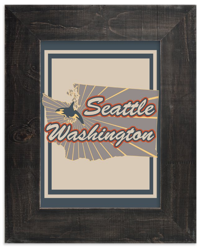 """Seattle Washington"" - Art Print by Nathan Poland in beautiful frame options and a variety of sizes."