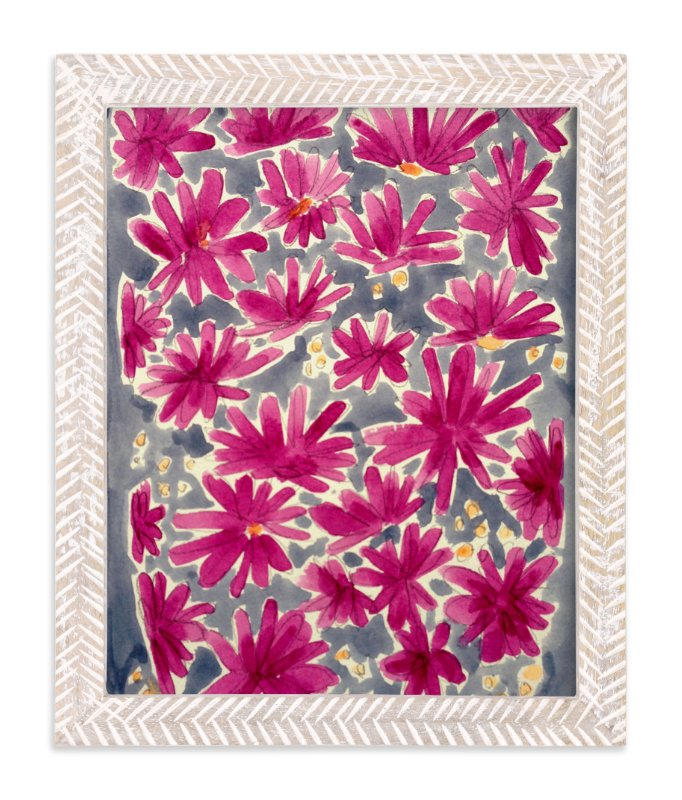 """""""Magenta Flora"""" - Art Print by Katie Craig in beautiful frame options and a variety of sizes."""