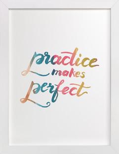 makes perfect  Art Print