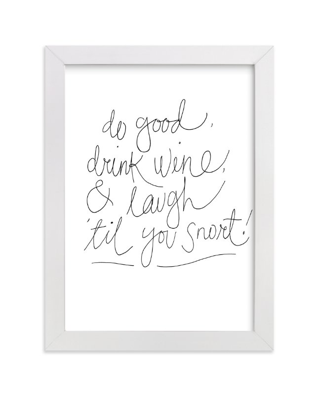 """Good Words"" - Art Print by Katie Craig in beautiful frame options and a variety of sizes."