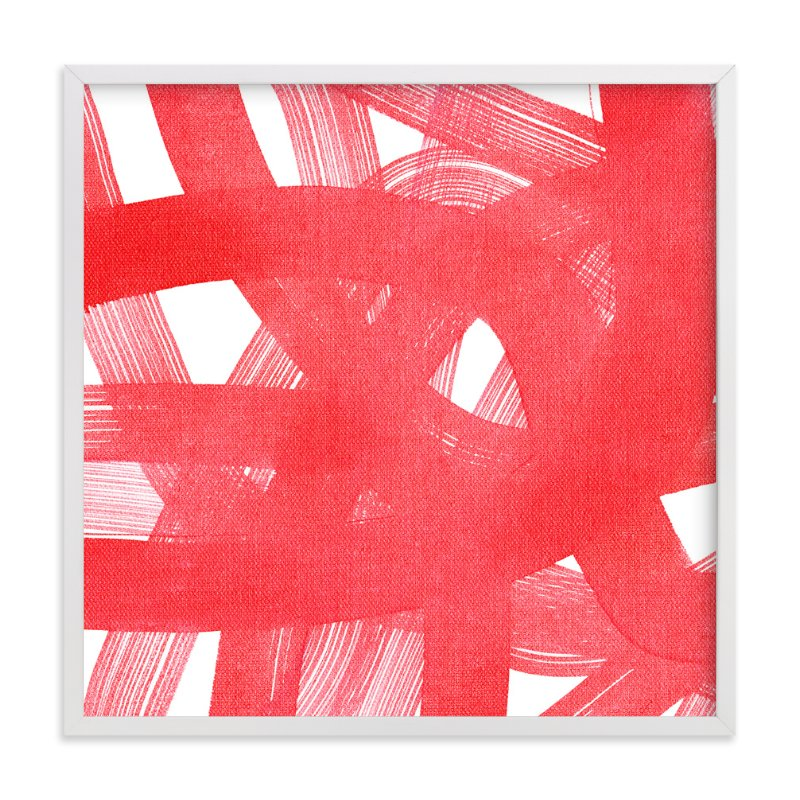 """""""Red Ribbons"""" - Art Print by Kim Johnson in beautiful frame options and a variety of sizes."""