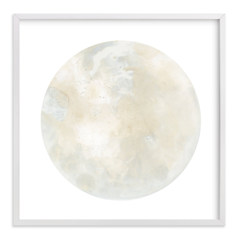 """Full Moon Two"" - Art Print by Emily Magone in beautiful frame options and a variety of sizes."