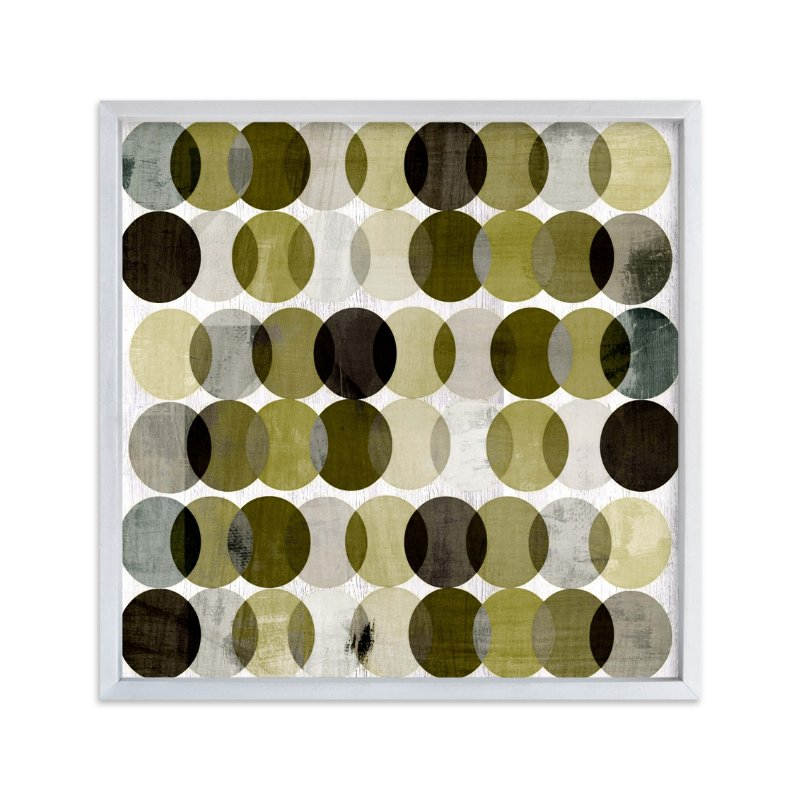 """Overlapping Earth Tone Circles"" - Art Print by Amy Lighthall in beautiful frame options and a variety of sizes."