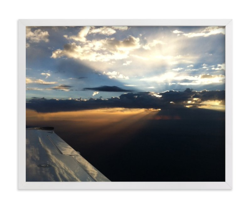 """Sunrise Over the Desert"" - Art Print by Jeff Vilkin in beautiful frame options and a variety of sizes."