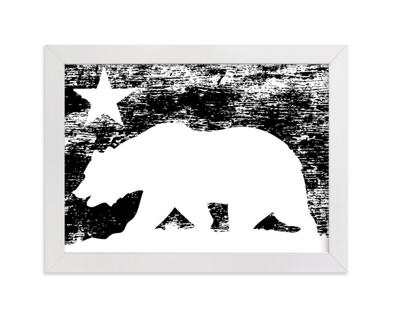 """CA Republic"" - Art Print by King Richard IX in beautiful frame options and a variety of sizes."