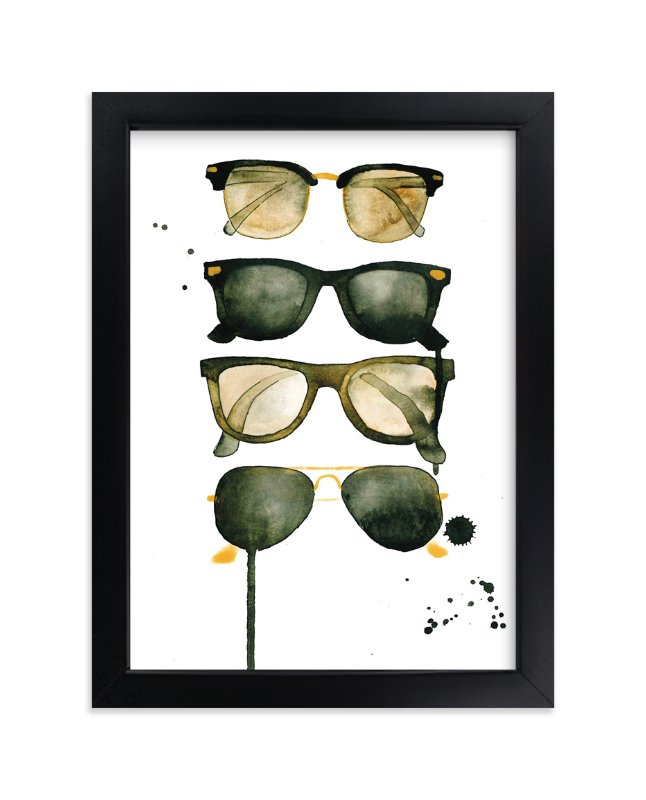 """Ray Bans"" - Art Print by Kelsey McNatt in beautiful frame options and a variety of sizes."