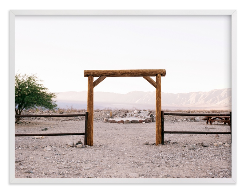 """""""Desert Corral"""" - Art Print by Anna Western in beautiful frame options and a variety of sizes."""
