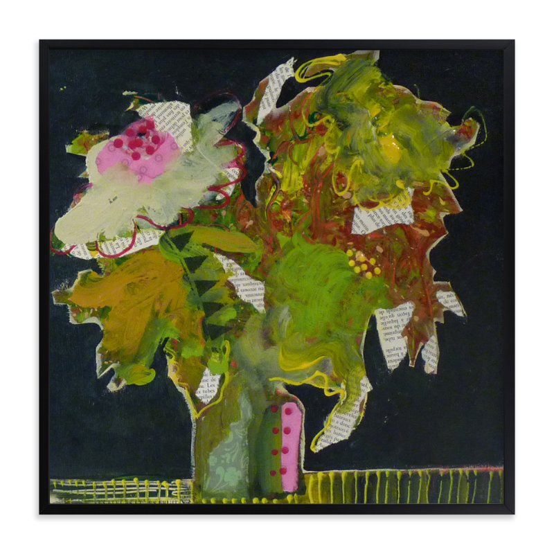 """Funky bouquet"" - Art Print by Johanne Roy in beautiful frame options and a variety of sizes."