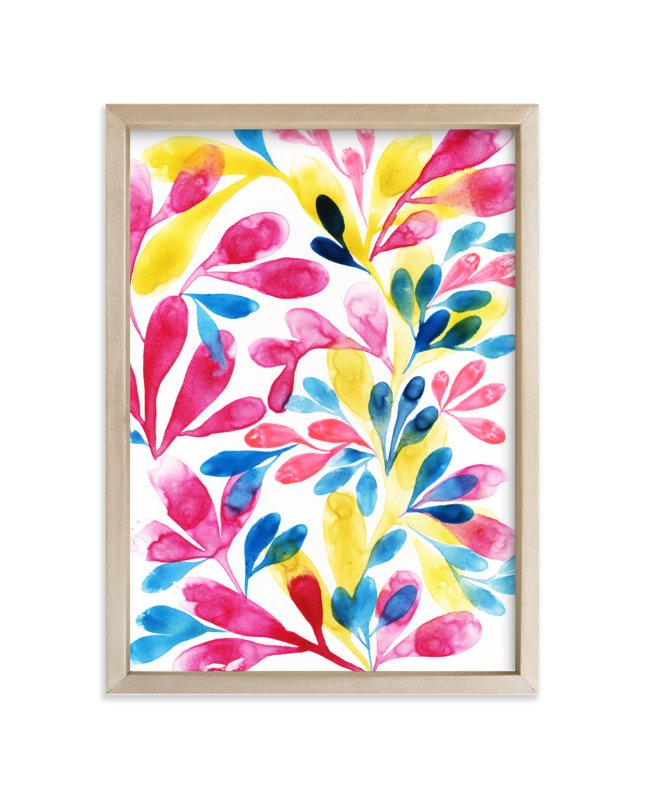 """Energy of Leaves"" - Art Print by Anna Marie Farmer in beautiful frame options and a variety of sizes."
