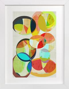 Mid Century Circles   Art Print