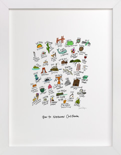 How to Northern California  Art Print