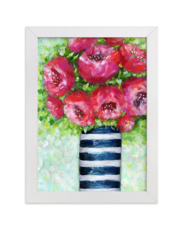 """""""Pink Blush"""" - Art Print by Sen Chloe in beautiful frame options and a variety of sizes."""