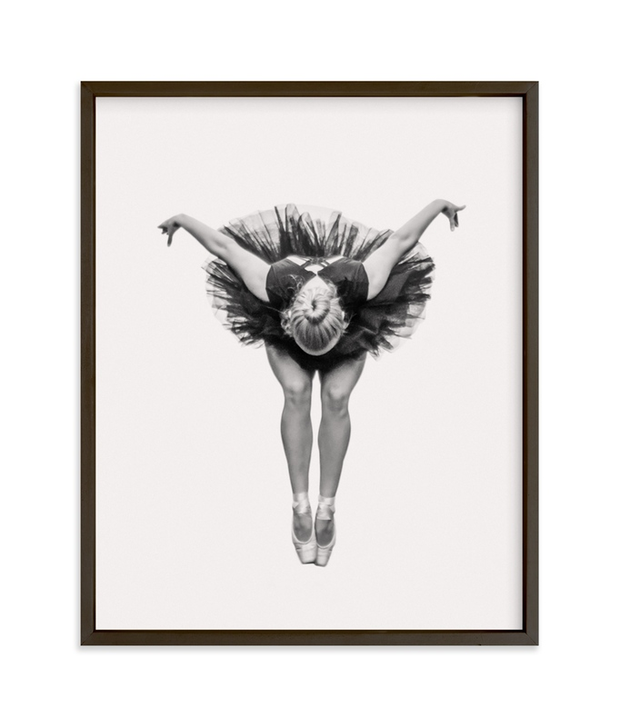 """""""Ballerina in Black"""" - Art Print by Ardell McLennan in beautiful frame options and a variety of sizes."""