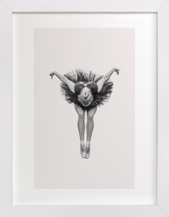 Ballerina in Black  Art Print