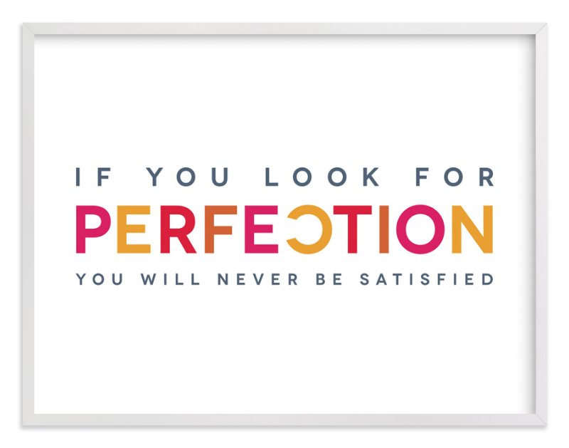 """Perfectly Imperfect"" - Art Print by Luckybug Designs in beautiful frame options and a variety of sizes."