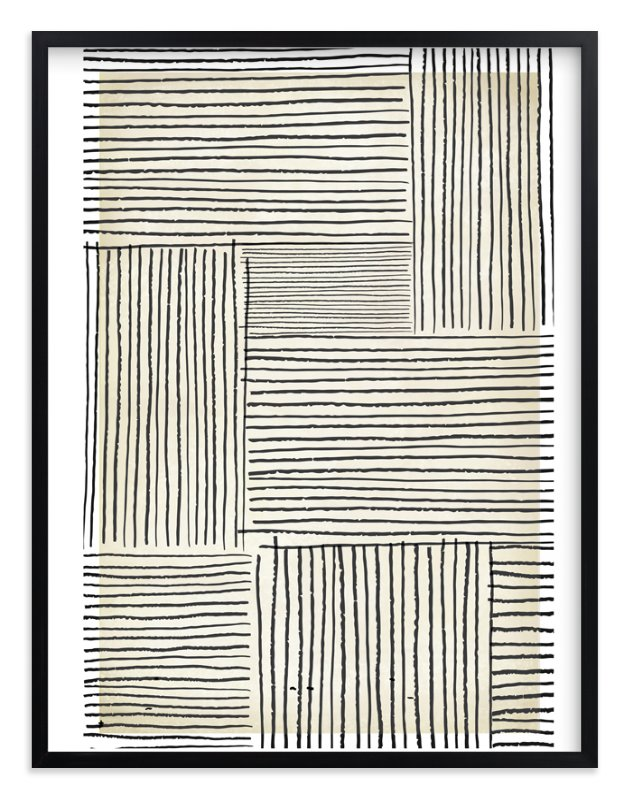 """""""Sketchy Lines"""" - Art Print by Katie Zimpel in beautiful frame options and a variety of sizes."""