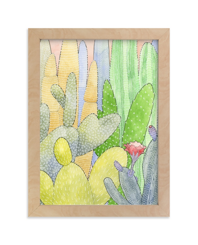 """""""Cactus Garden 2"""" - Art Print by Natalie Groves in beautiful frame options and a variety of sizes."""