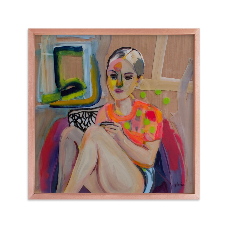 """""""My Muse"""" - Art Print by gloria blatt in beautiful frame options and a variety of sizes."""