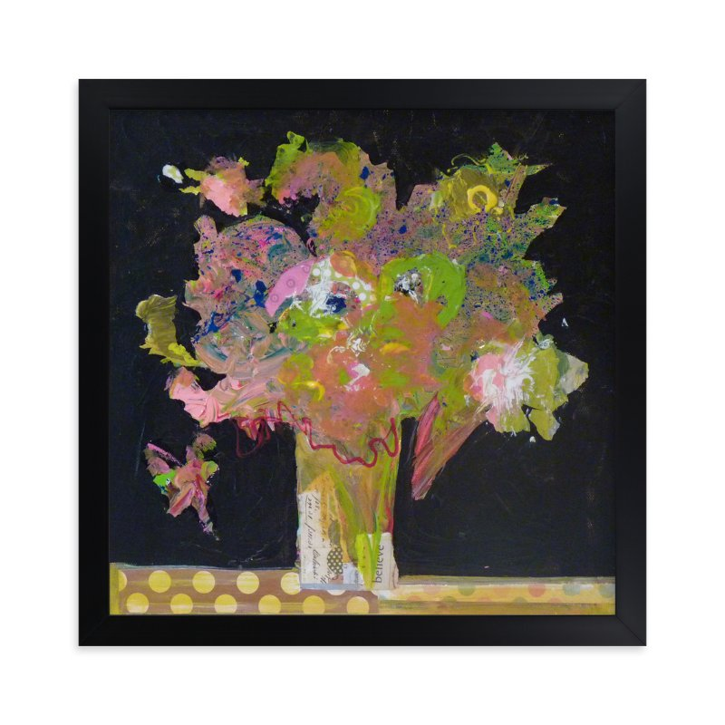 """""""Believe in flowers"""" - Art Print by Johanne Roy in beautiful frame options and a variety of sizes."""