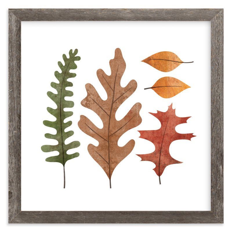 """Fallen Leaves"" - Art Print by Ann Gardner in beautiful frame options and a variety of sizes."
